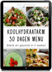 Koolhydraatarm 30 dagen menu blad